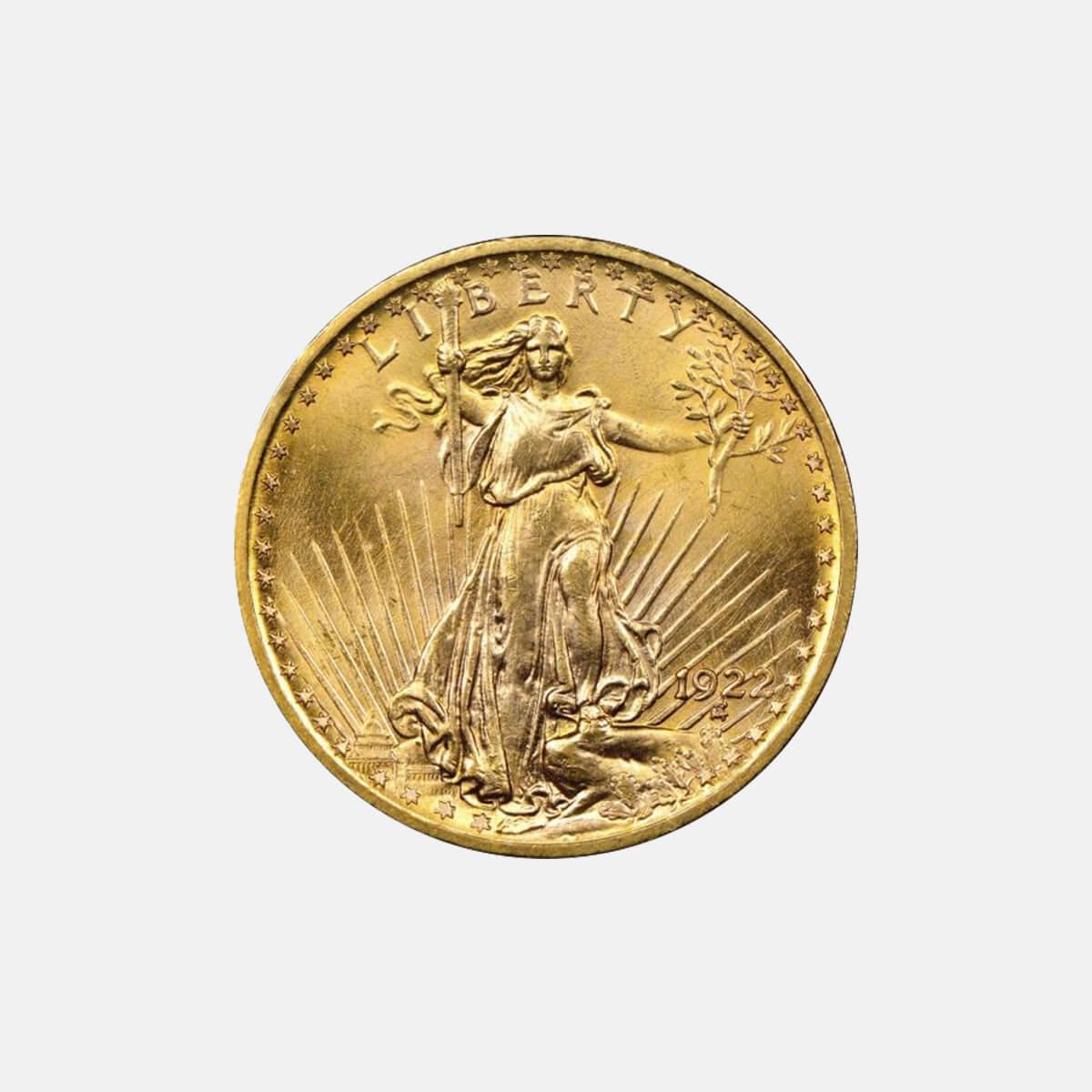 St Gaudens Double Eagle Coin Milwaukee Double Eagle Gold